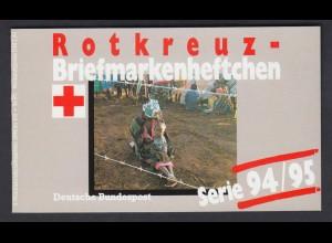 Bund Rotes Kreuz Wohlfahrt Markenheftchen 5x 1759 100+ 50 Pf 1994/95 postfrisch