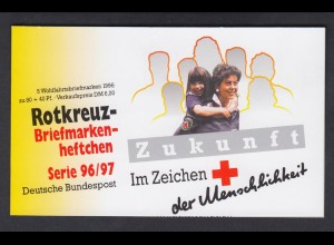 Bund Rotes Kreuz Wohlfahrt Markenheftchen 5x 1884 80+ 40 Pf 1996/97 postfrisch
