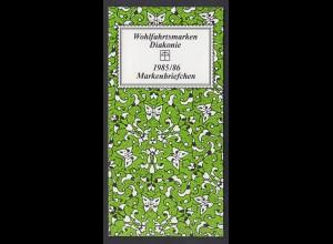 Bund Diakonie Markenheftchen 5x 1261 80+ 40 Pf 1985/86 postfrisch