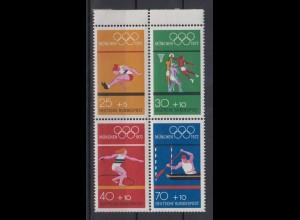 Bund 734-737 Heftchenblatt 22 Olympiade München 1972 postfrisch