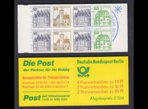 Berlin Markenheftchen 11a Burgen + Schlösser 1980 postfrisch