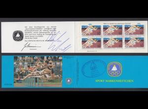 Berlin Sport Markenheftchen 6x 664 60+ 30 Pf 1982 postfrisch mit Unterschriften