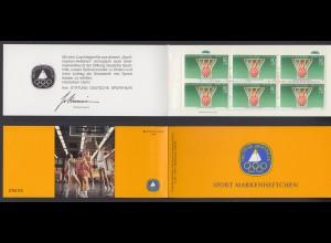 Berlin Sport Markenheftchen 6x 732 80+ 40 Pf 1985 postfrisch