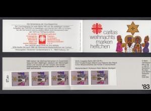 Berlin Caritas Weihnachten Markenheftchen 5x 707 50+ 20 Pf 1983 postfrisch