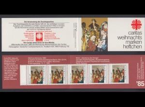 Berlin Caritas Weihnachten Markenheftchen 5x 749 50+ 20 Pf 1985 postfrisch