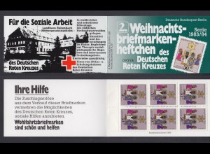 Berlin Rotes Kreuz Weihnachten Markenheftchen 6x 707 50+ 20 Pf 1983/84 **