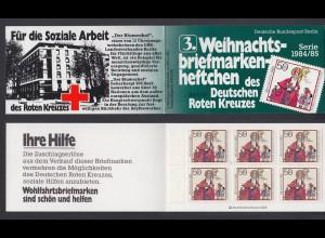 Berlin Rotes Kreuz Weihnachten Markenheftchen 6x 729 50+ 20 Pf 1984/85 **