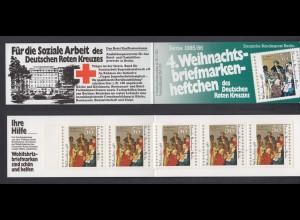 Berlin Rotes Kreuz Weihnachten Markenheftchen 5x 749 50+ 20 Pf 1985/86 **