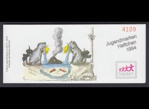 Bund Jugend Der Struwwelpeter Markenheftchen 5x 1726 80+ 40 Pf 1994 **
