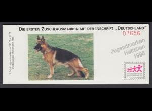 Bund Jugend Hunderassen Markenheftchen 5x 1799 100+ 50 Pf 1995 **