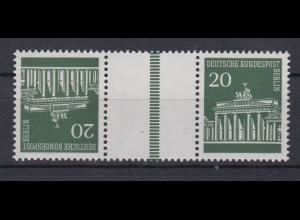 Berlin Zusammendruck KZ 4 Brandenburger Tor 20 Pf postfrisch /1