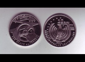 Gedenkmünze 10 Euro 2011 125 Jahre Automobil stempelglanz