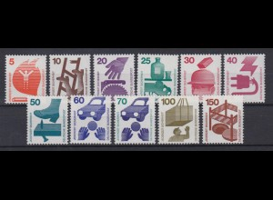 Bund ex 694-773 Unfallverhütung 11 Werte postfrisch