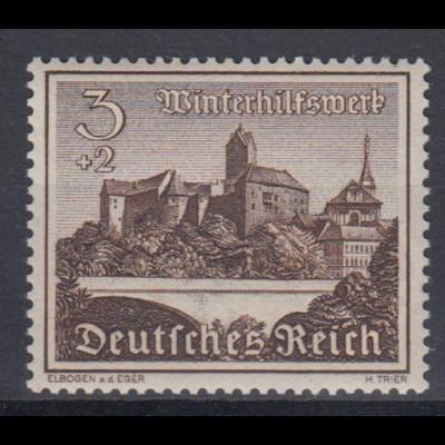 Deutsches Reich 730y Winterhilfswerk Bauwerke 3+ 2 Pf postfrisch