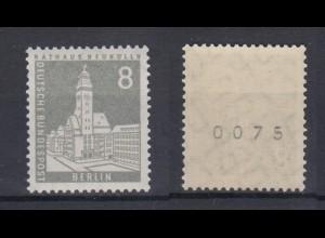 Berlin 143 wv EZM mit ungerader Nummer Berliner Stadtbilder 8 Pf postfrisch