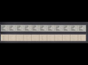 Berlin 143 wv 11er Streifen mit gug Nummern Berliner Stadtbilder 8 Pf postfrisch