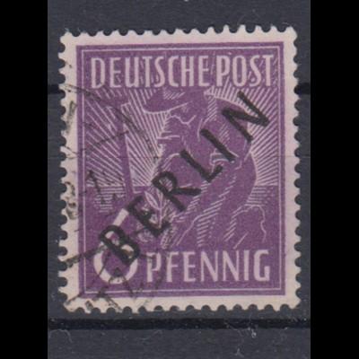 Berlin 2 Schwarzaufdruck 6 Pf gestempelt /6