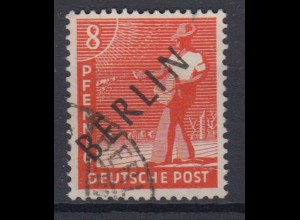 Berlin 3 Schwarzaufdruck 8 Pf gestempelt /6