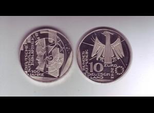 Gedenkmünze 10 Euro 2012 Deutsche National Bibliothek stempelglanz