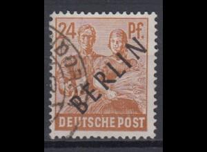 Berlin 9 Schwarzaufdruck 24 Pf gestempelt /3