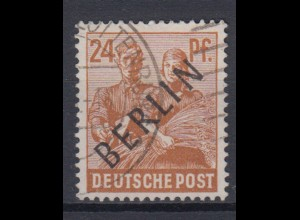 Berlin 9 Schwarzaufdruck 24 Pf gestempelt /4