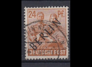 Berlin 9 Schwarzaufdruck 24 Pf gestempelt /5