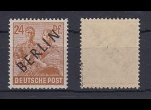 Berlin 9 Schwarzaufdruck 24 Pf postfrisch geprüft Schlegel