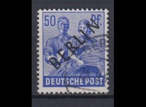 Berlin 13 Schwarzaufdruck 50 Pf gestempelt /2