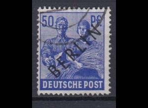 Berlin 13 Schwarzaufdruck 50 Pf gestempelt /4
