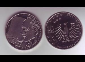 Gedenkmünze 10 Euro 2012 Gerhard Hauptmann stempelglanz