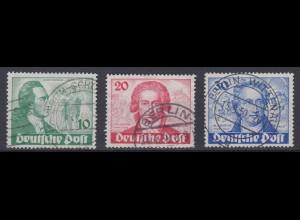 Berlin 61-63 Geburtstag Johann W. v. Goethe 10 Pf, 20 Pf, 30 Pf gestempelt