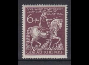 Dt. Reich 907 Verleihung der Stadtrechte an Oldenburg 6+ 14 Pf postfrisch