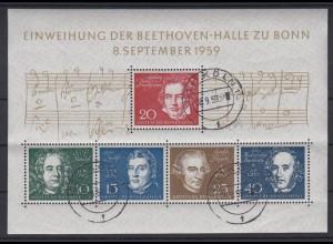 Bund Block 2 Einweihung der Beethovenhalle Ersttags -Tagesstempel Köln /1
