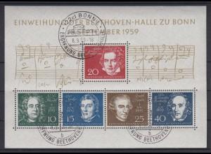 Bund Block 2 Einweihung der Beethovenhalle Ersttagsstempel Bonn /3