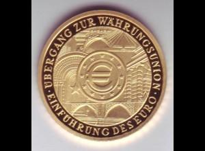 Goldmünze 100 Euro 2002 Einführung des Euro