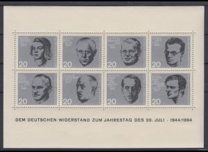 Bund Block 3 Widerstand 20. Juli 1944 postfrisch