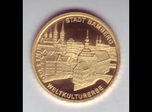 Goldmünze 100 Euro 2004 UNESCO Weltkulturerbe Bamberg