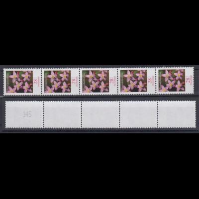 Bund 3088 Rollenmarke 5er Str. ungerader Nr Blumen Tausendgüldenkraut 28 C **