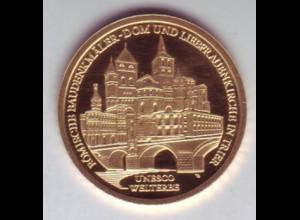 Goldmünze 100 Euro 2009 UNESCO Weltkulturerbe Trier