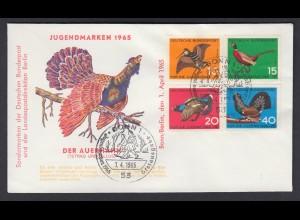 Bund FDC mit 464-467 Jugend Jagdbares Federwild mit ESST 1.4.1965