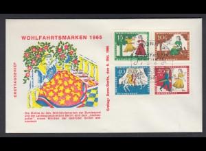 Bund FDC mit 485-488 Wohlfahrt Märchen der Brüder Grimm (VII) mit ESST 6.10.1965