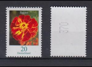 Bund 2471 Rollenmarke mit gerader Nr. Blumen Tagetes 20 C postfrisch