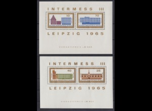 DDR Block 23+24 Briefmarkenausstellung Leipzig 10 + 70, 40 + 25 Pf postfrisch