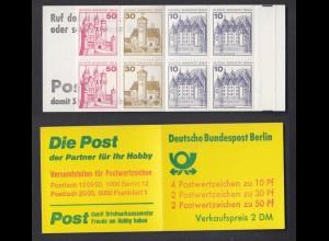 Berlin Markenheftchen 10b Burgen + Schlösser 1977 postfrisch