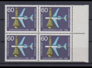 Bund 473 I mit Plattenfehler 4er Block IVA 1969 München 60 Pf postfrisch