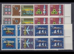 Bund 468-474 4er Block Verkehrsausstellung IVA München kompl. Satz postfrisch