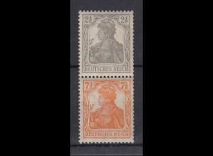 Deutsches Reich 98-99b Zusammendruck S 11b Germania 2,5 + 7,5 Pf postfrisch