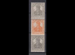 Dt. Reich 98-99b ZD S 12b Germania (V) 2,5 + 7,5+ 2,5 Pf postfrisch