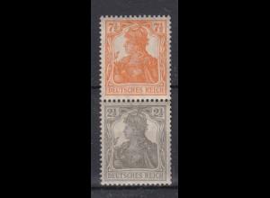 Deutsches Reich 98-99b Zusammendruck S 13b Germania 7,5 + 2,5 Pf postfrisch