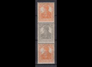 Deutsches Reich 98-99b Zusammendruck S 14b Germania 7,5 + 2,5 +7,5 Pf postfrisch